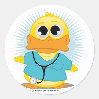 Dr Scrubs Duck Classic Round Sticker