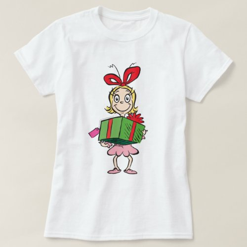 Dr. Seuss | Cindy-Lou Who - Holding Present T-Shirt
