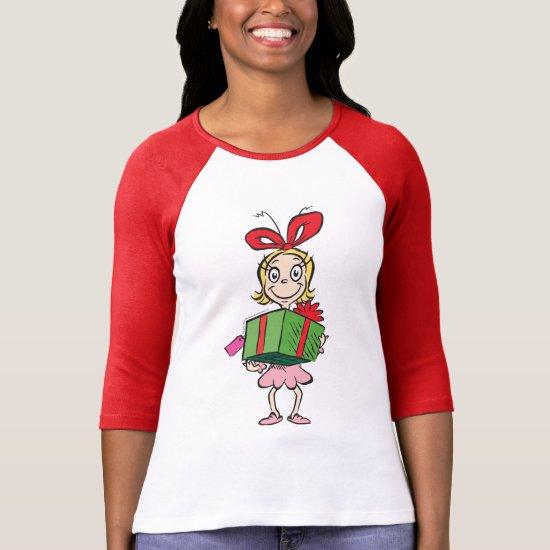 Dr. Seuss | Cindy-Lou Who - Holding Present T-Shirt