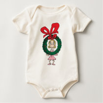 Dr. Seuss | Cindy-Lou Who - Wreath Baby Bodysuit