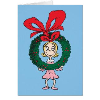 Dr. Seuss | Cindy-Lou Who - Wreath Card