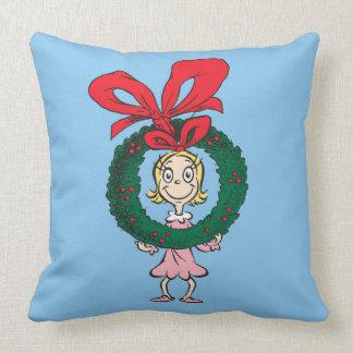Dr. Seuss | Cindy-Lou Who - Wreath Throw Pillow