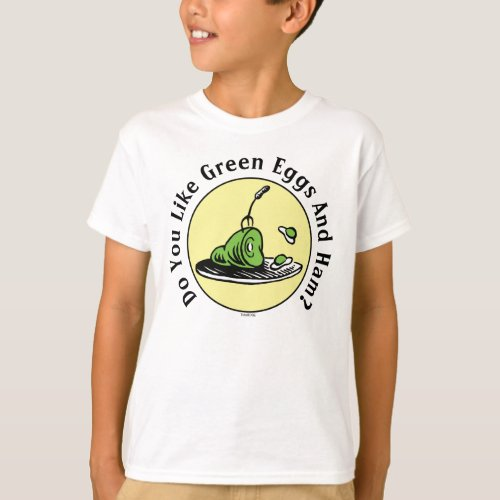 Dr Seuss  Green Eggs and Ham Icon T_Shirt