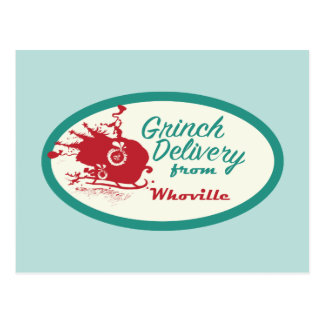 Dr. Seuss | Grinch Delivery from Whoville Postcard