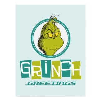 Dr. Seuss | Grinch Greetings Postcard