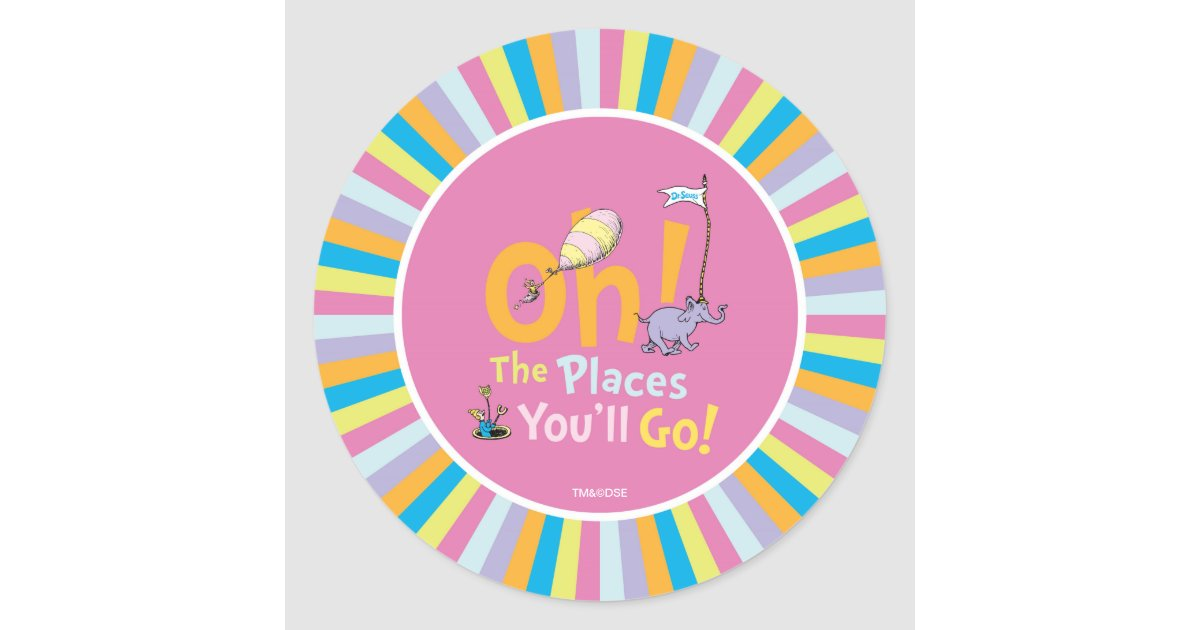 Dr Seuss Oh The Places You Ll Go Classic Round
