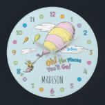 "Dr. Seuss | Oh! The Places You&#39;ll Go! Large Clock<br><div class=""desc"">Add your name to this cute Dr. Seuss Oh! The Places You&#39;ll Go! clock.</div>"