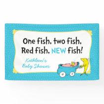 Dr. Seuss | One Fish - Boy Baby Shower Banner