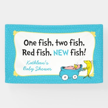 Toddler & Baby themed Dr. Seuss | One Fish - Boy Baby Shower Banner