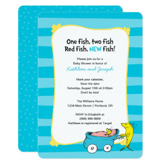Dr. Seuss | One Fish - Boy Baby Shower Card