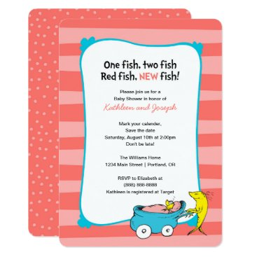 Toddler & Baby themed Dr. Seuss | One Fish - Girl Baby Shower Card