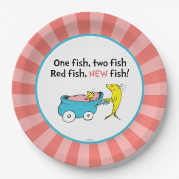Toddler & Baby themed Dr. Seuss | One Fish - Girl Baby Shower Paper Plate