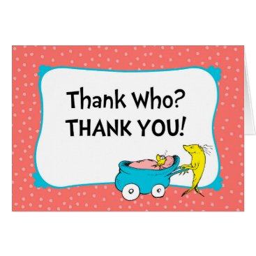 Toddler & Baby themed Dr. Seuss | One Fish - Girl Baby Shower Thank You Card
