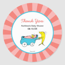 Dr. Seuss | One Fish - Girl Baby Shower Thank You Classic Round Sticker