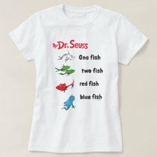 Dr. Seuss   One Fish Two Fish - Vintage T-Shirt