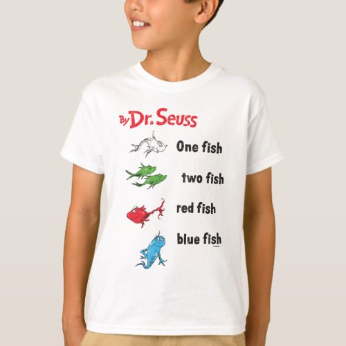 Dr Seuss  One Fish Two Fish _ Vintage T_Shirt