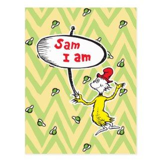 Dr. Seuss | Sam-I-Am Holding Sign Postcard