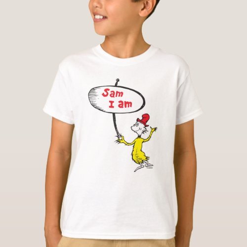 Dr Seuss  Sam_I_Am Holding Sign T_Shirt