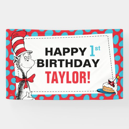 Cat Birthday Banner: The Cat In The Hat Birthday Banner