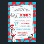 "Dr. Seuss | The Cat in the Hat Birthday Invitation<br><div class=""desc"">Celebrate your child&#39;s Birthday with The Cat in the Hat! These fun Birthday invitations are fully customizable.</div>"