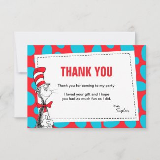 Dr. Seuss | The Cat in the Hat Birthday Thank You