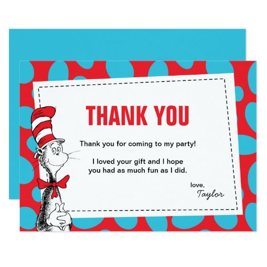 Dr seuss the cat in the hat birthday thank you card zazzle dr seuss the cat in the hat birthday thank you card bookmarktalkfo Choice Image