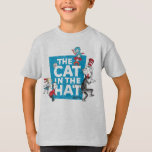 """Dr. Seuss   The Cat in the Hat Logo - Characters T-Shirt<br><div class=""""desc"""">This classic Dr. Seuss graphic features the Cat in the Hat book characters with the logo.</div>"""