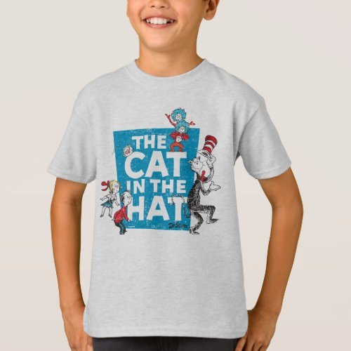 Dr Seuss  The Cat in the Hat Logo _ Characters T_Shirt