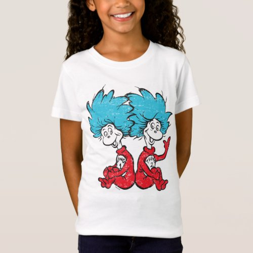 Dr Seuss  The Cat in the Hat _ Thing 1 Thing 2 T_Shirt