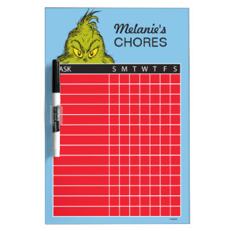 Dr. Seuss | The Grinch Chore Chart Dry Erase Board