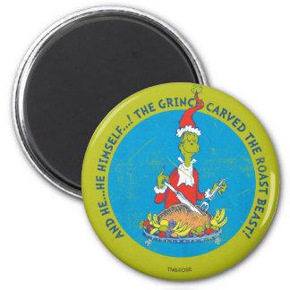 Dr Seuss   The Grinch   Christmas Roast Beast Magnet