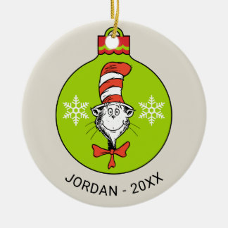 Dr Seuss   The Grinch   Classic The Cat in the Hat Ceramic Ornament
