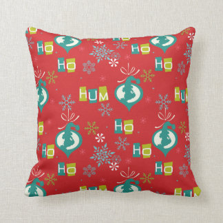 Dr. Seuss | The Grinch - Ho Ho Hum Pattern Throw Pillow