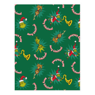 Dr Seuss | The Grinch | Merry Grinchmas Pattern Postcard