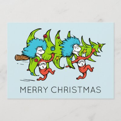 Dr Seuss Christmas.Dr Seuss The Grinch Thing 1 Thing 2 Christmas Holiday Postcard