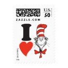 Dr. Seuss Valentine | I Heart the Cat in the Hat Postage