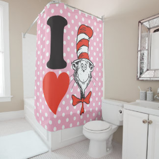 Dr. Seuss Valentine | I Heart The Cat In The Hat Shower Curtain