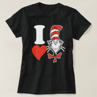 Dr. Seuss Valentine | I Heart the Cat in the Hat T-Shirt