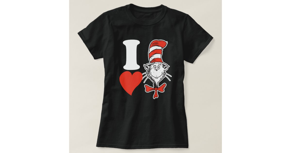 Dr Seuss Valentine I Heart The Cat In The Hat T Shirt