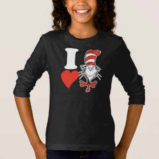 Dr. Seuss Valentine   I Heart the Cat in the Hat T-Shirt