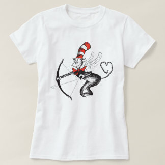 Dr. Seuss Valentine   The Cat in the Hat Cupid T-Shirt