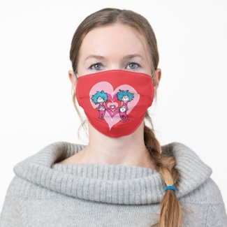 Dr. Seuss Valentine | Thing 1 Thing 2 Adult Cloth Face Mask