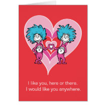 Dr. Seuss Valentine   Thing 1 Thing 2 Card