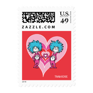 Postage - Dr. Seuss Valentine | Thing 1 Thing 2 Postage