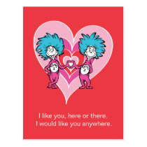 Dr. Seuss Valentine | Thing 1 Thing 2 Postcard