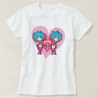 Dr. Seuss Valentine | Thing 1 Thing 2 T-Shirt