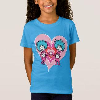 Dr. Seuss Valentine   Thing 1 Thing 2 T-Shirt