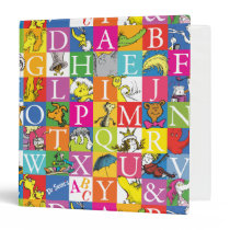 Dr. Seuss's ABC Colorful Block Letter Pattern Binder