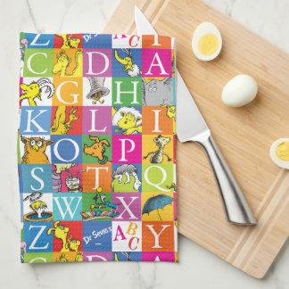 Dr. Seuss's ABC Colorful Block Letter Pattern Kitchen Towel
