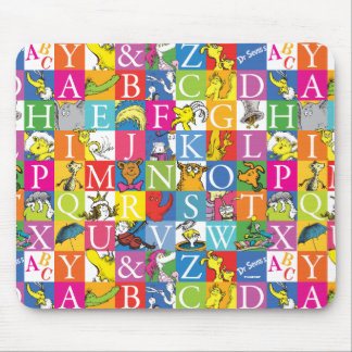 Dr. Seuss's ABC Colorful Block Letter Pattern Mouse Pad